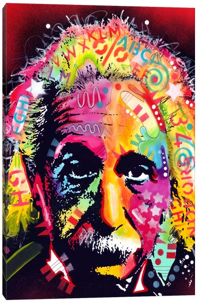 Einstein II by Dean Russo Canvas Art Print