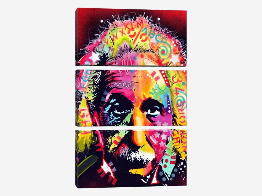 Einstein II by Dean Russo 3-piece Canvas Art