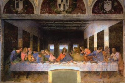 The Last Supper Wall Art the last supper, 1495-1498 canvas art printleonardo da vinci