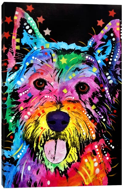 Westie by Dean Russo Canvas Print