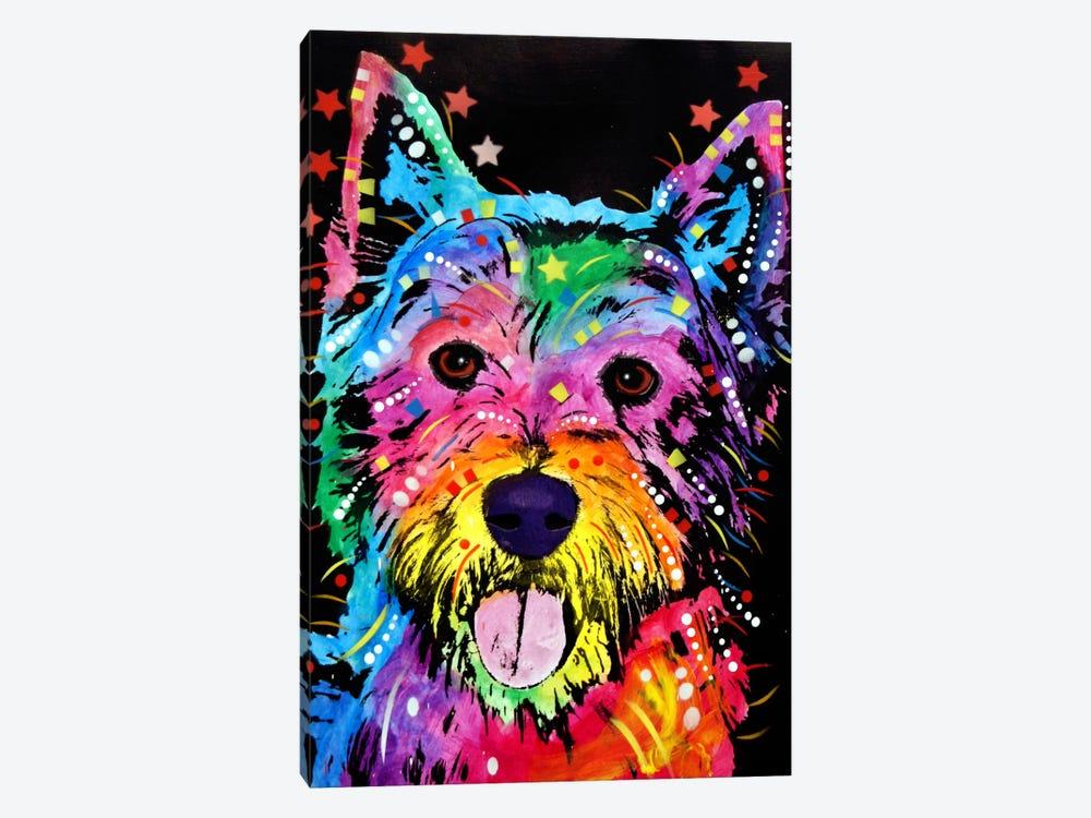 Westie by Dean Russo 1-piece Canvas Art Print