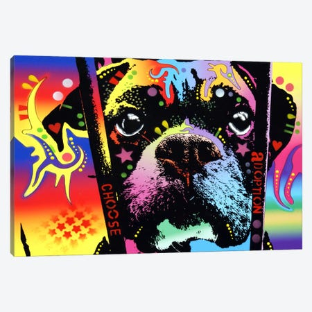 Choose Adoption Boxer Canvas Print #13544} by Dean Russo Canvas Art
