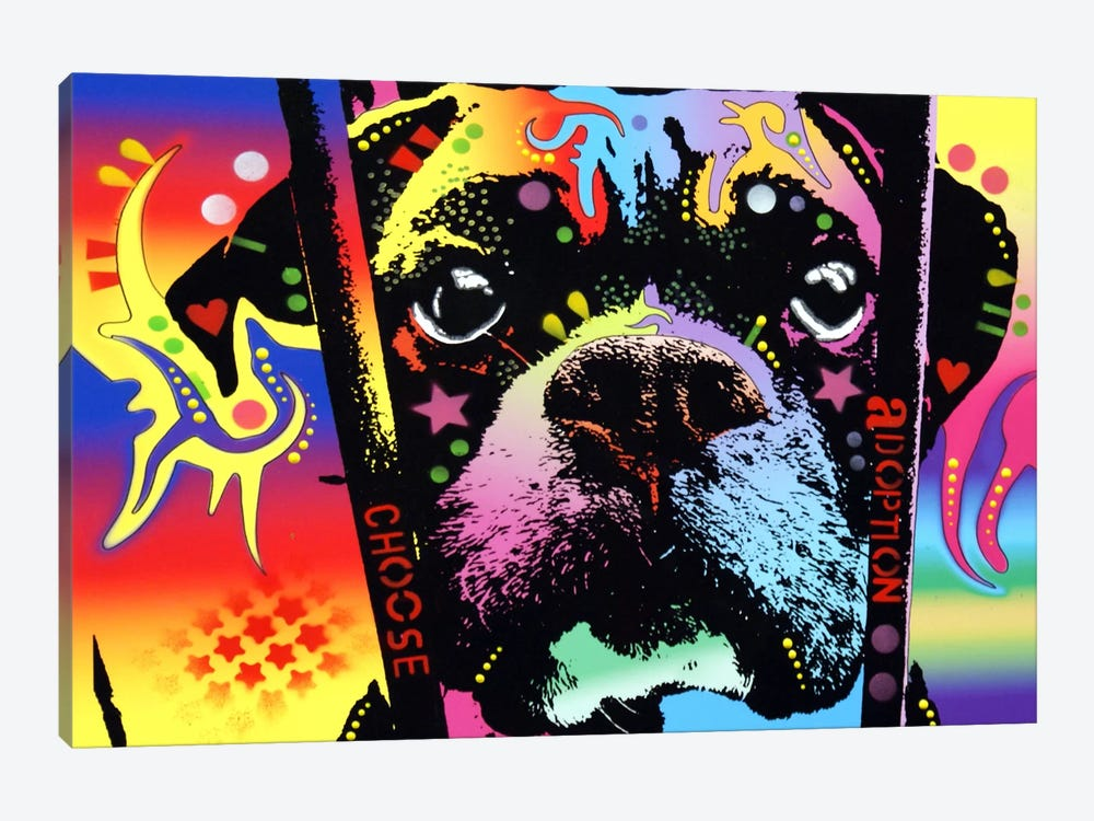 Choose Adoption Boxer by Dean Russo 1-piece Canvas Wall Art