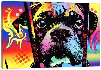Choose Adoption Boxer Canvas Art Print
