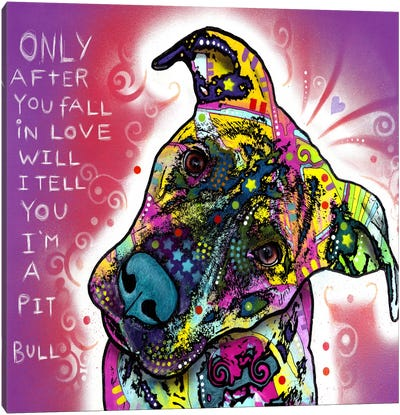 I'm a Pit Bull by Dean Russo Canvas Art