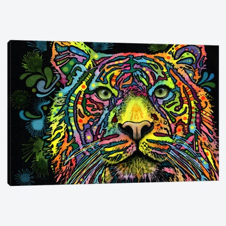 Tiger Canvas Print #13548} by Dean Russo Art Print