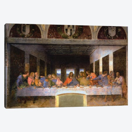 The Last Supper, 1495-1498 Canvas Print #1354} by Leonardo da Vinci Canvas Print