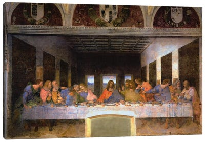 The Last Supper, 1495-1498 by Leonardo da Vinci Canvas Print
