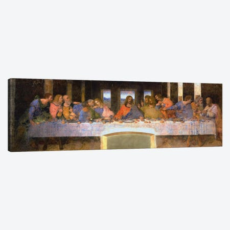 The Last Supper Canvas Print #1354PANa} by Leonardo da Vinci Canvas Artwork