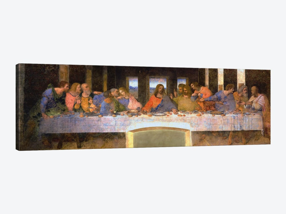 The Last Supper by Leonardo da Vinci 1-piece Canvas Art Print
