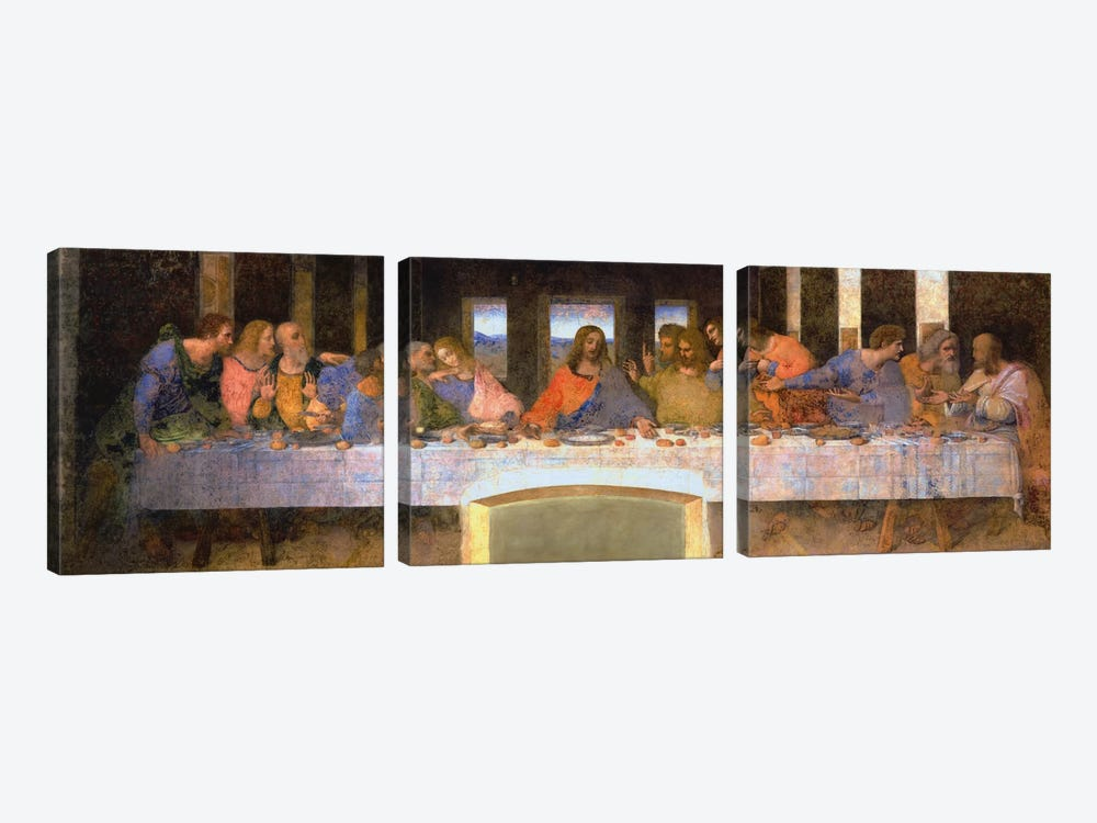The Last Supper by Leonardo da Vinci 3-piece Art Print