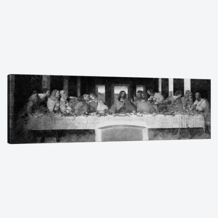 The Last Supper II Canvas Print #1354PANb} by Leonardo da Vinci Canvas Art