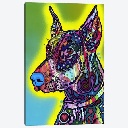 Doberman Canvas Print #13552} by Dean Russo Canvas Artwork
