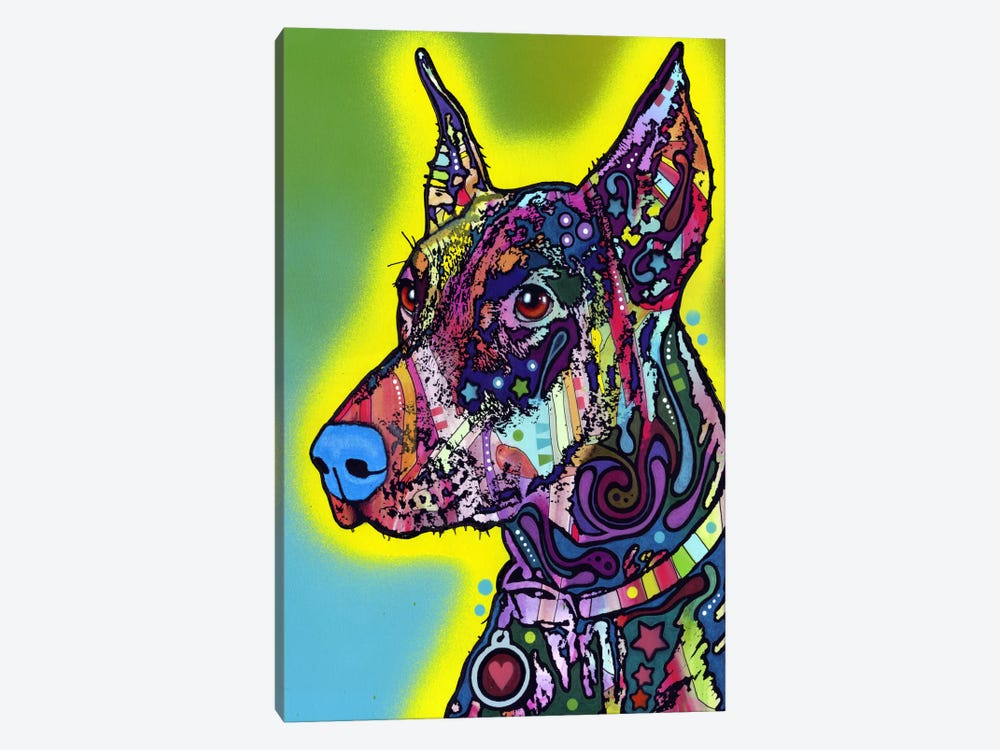 Doberman by Dean Russo 1-piece Art Print