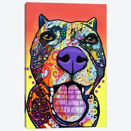 Bark Don't Bite Canvas Print #13555} by Dean Russo Art Print