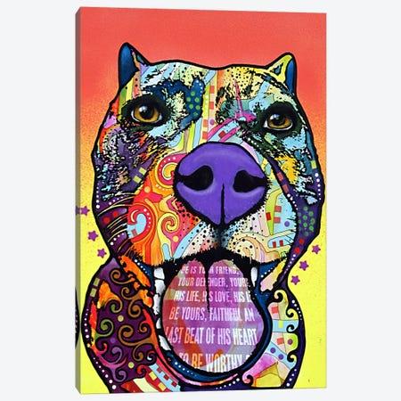 Bark Don't Bite Canvas Print #13555} by Dean Russo Art Print