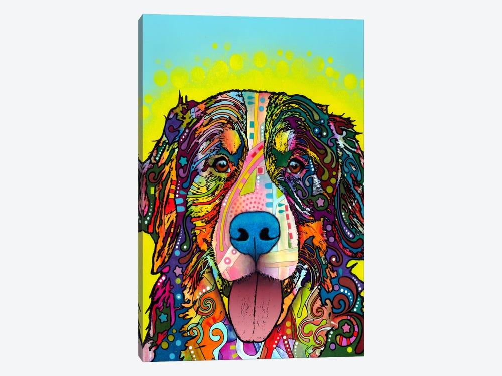 Bernese Mountain Dog by Dean Russo 1-piece Canvas Artwork
