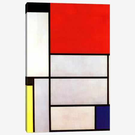 Tableau l, 1921 Canvas Print #13568} by Piet Mondrian Art Print