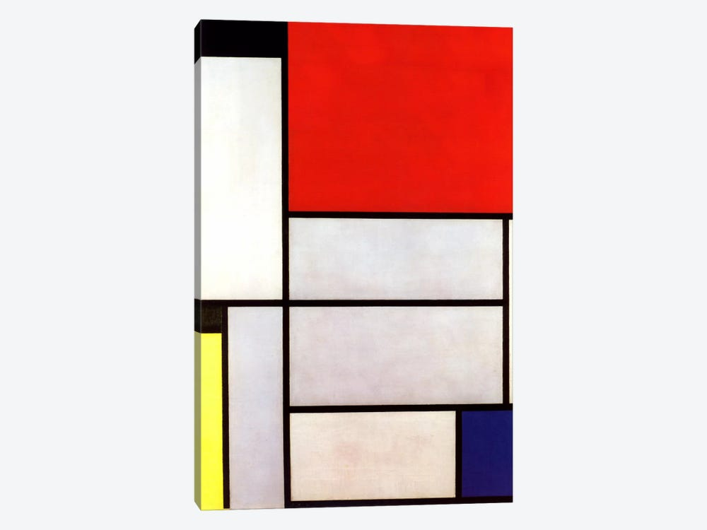 Tableau l, 1921 by Piet Mondrian 1-piece Canvas Art