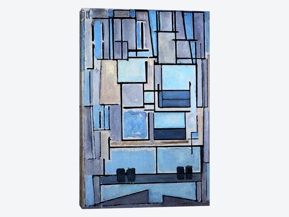 Composition No. 9, 1914 by Piet Mondrian 1-piece Canvas Print