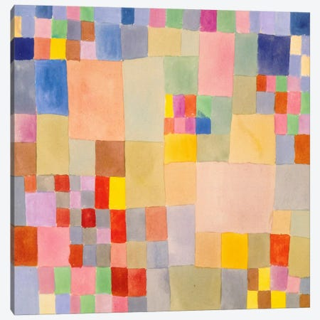 Flora on The Sand Canvas Print #1358} by Paul Klee Canvas Artwork