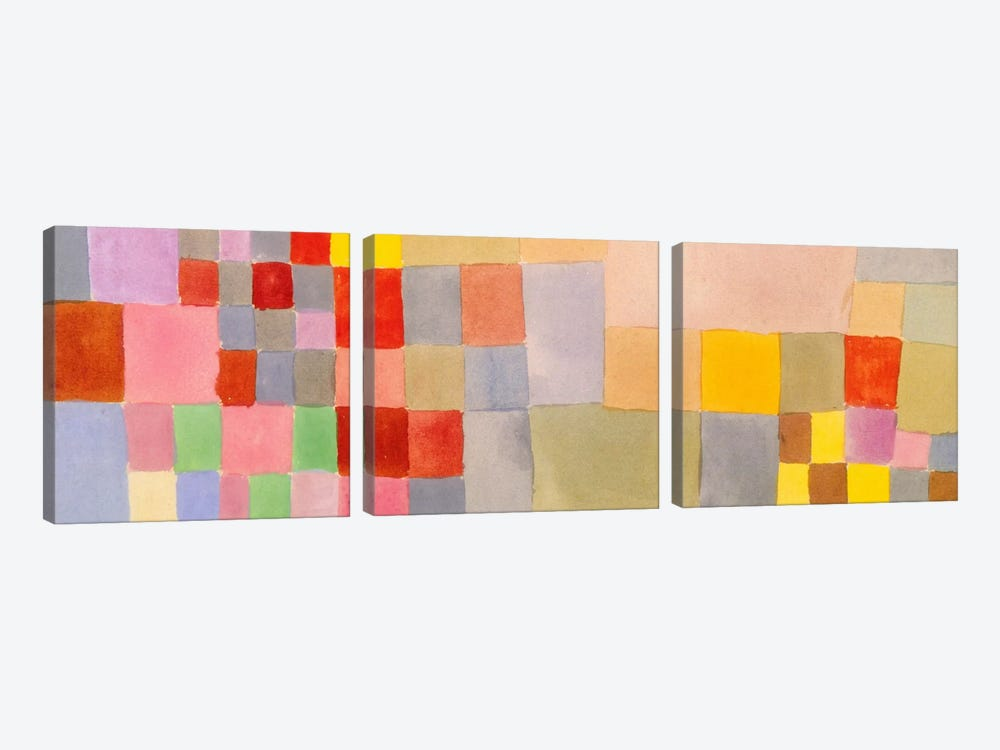 Flora on The Sand by Paul Klee 3-piece Canvas Art Print