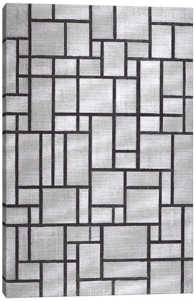 Composition in Gray, 1919 Canvas Art Print
