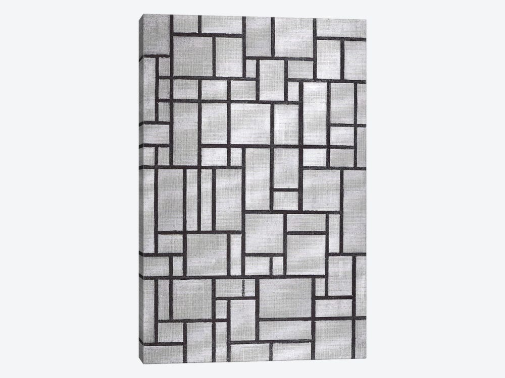 Composition in Gray, 1919 by Piet Mondrian 1-piece Canvas Wall Art