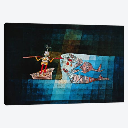 Sinbad The Sailor Canvas Print #1359} by Paul Klee Canvas Wall Art