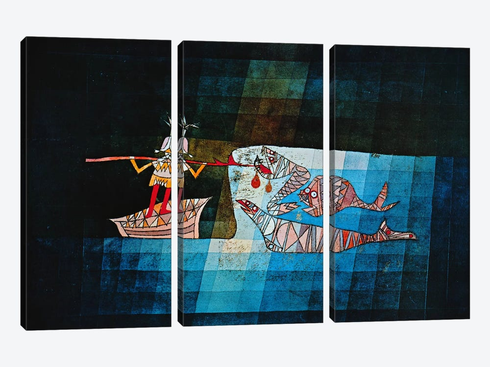 Sinbad The Sailor by Paul Klee 3-piece Canvas Artwork