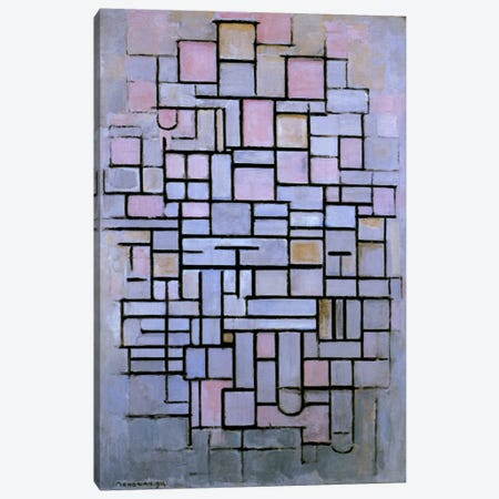 Composition 6, 1914 Canvas Print #13601} by Piet Mondrian Canvas Artwork