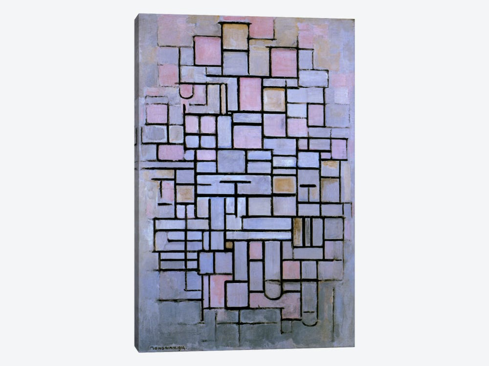 Composition 6, 1914 by Piet Mondrian 1-piece Art Print
