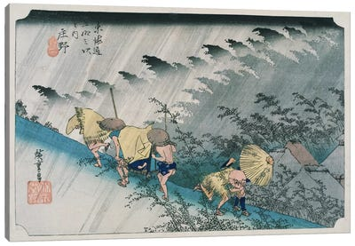 Shono From the Fifty-Three Stations on Tokaido Highway by Ando Hiroshige Canvas Print