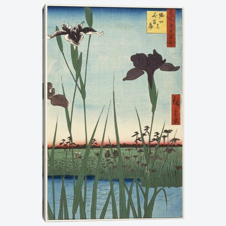 Horikiri no hanashobu (Horikiri Iris Garden) Canvas Print #13611} by Utagawa Hiroshige Canvas Art Print
