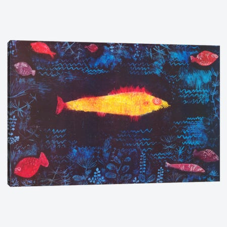 The Golden Fish Canvas Print #1361} by Paul Klee Canvas Art Print