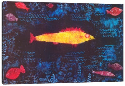 The Golden Fish by Paul Klee Canvas Art Print