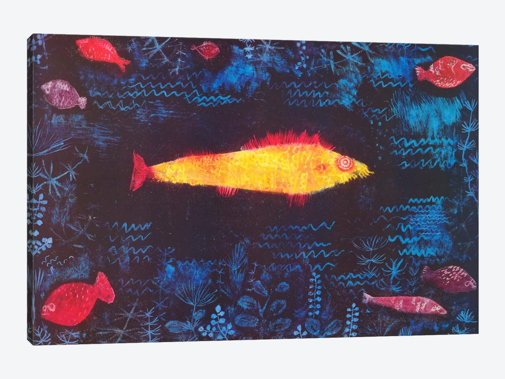 The Golden Fish by Paul Klee 1-piece Canvas Art Print