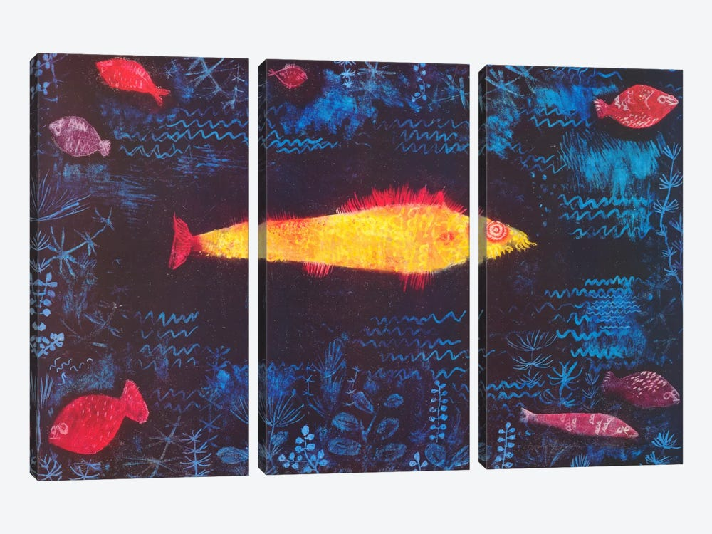 The Golden Fish by Paul Klee 3-piece Canvas Print