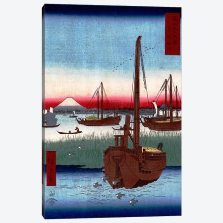 Toto Tsukuda oki (The Sea at Tsukuda in Edo) Canvas Print #13621} by Utagawa Hiroshige Canvas Art