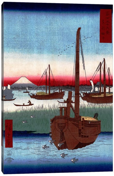 Toto Tsukuda oki (The Sea at Tsukuda in Edo) Canvas Art Print