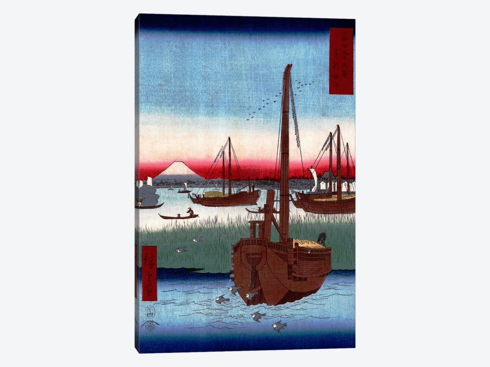 Toto Tsukuda oki (The Sea at Tsukuda in Edo) by Utagawa Hiroshige 1-piece Art Print