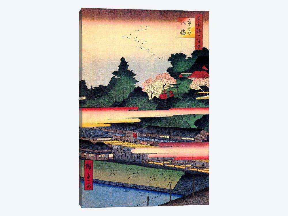 Ichigaya Hachiman (Ichigaya Hachiman Shrine) by Utagawa Hiroshige 1-piece Canvas Wall Art
