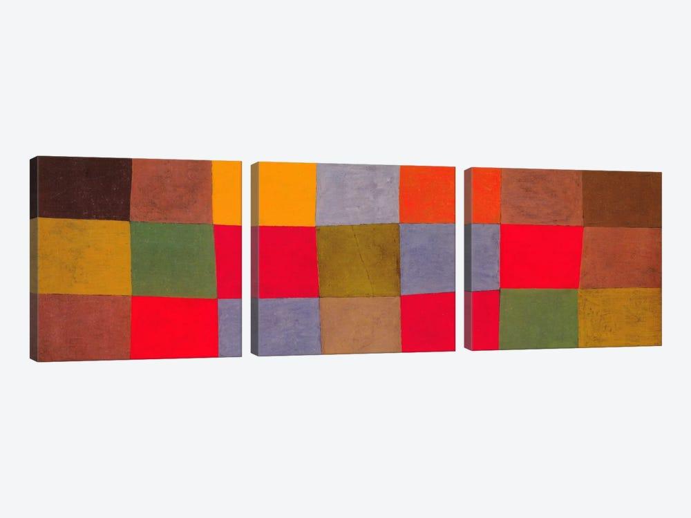 New Harmony by Paul Klee 3-piece Canvas Art