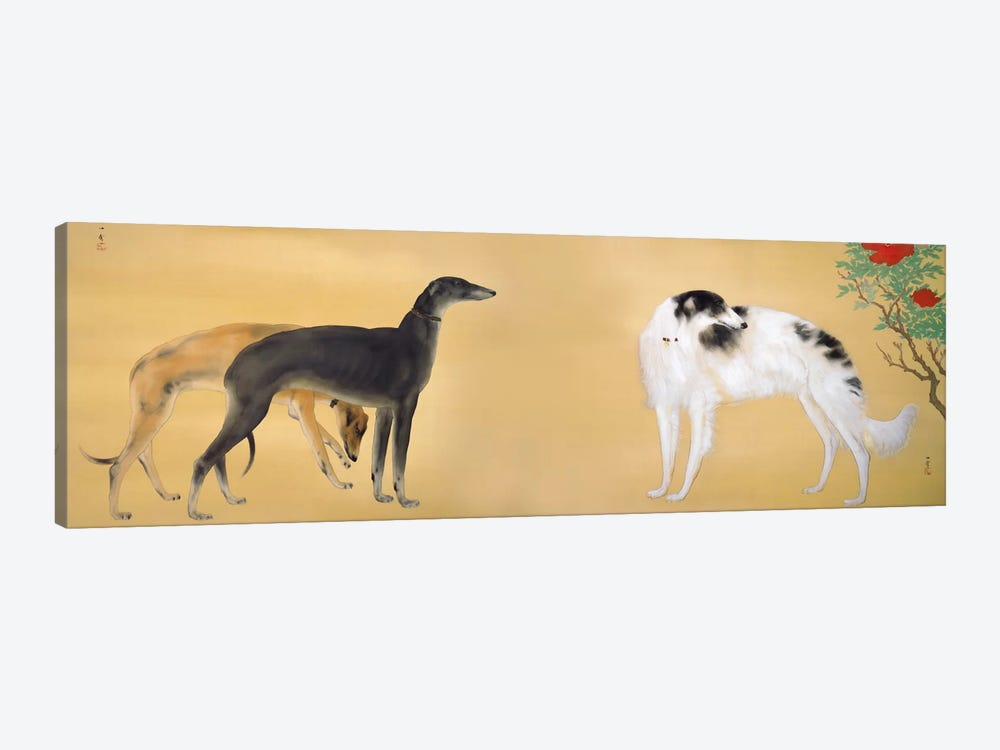 Dogs from Europe by Hashimoto Kansetsu 1-piece Canvas Art