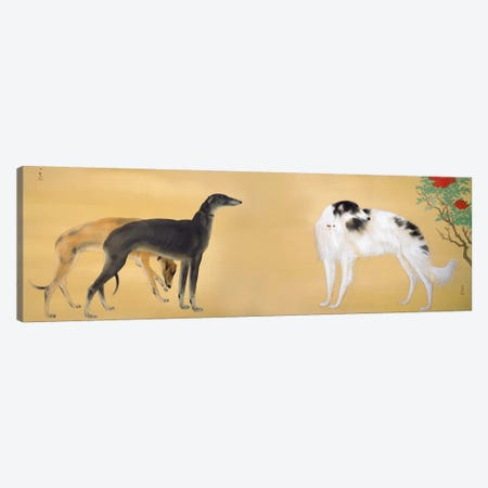 Dogs from Europe Canvas Print #13639} by Hashimoto Kansetsu Canvas Print