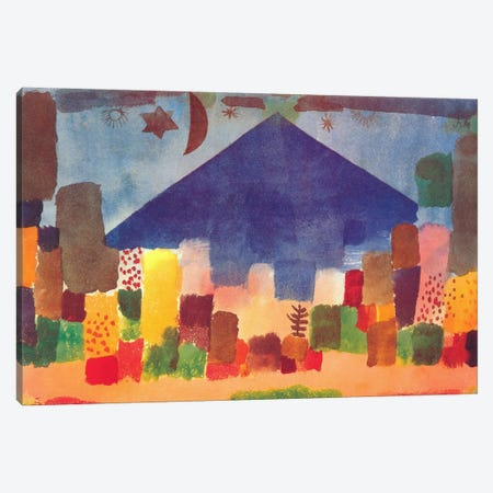 Egyptian Night (notte Egiziana) Canvas Print #1363} by Paul Klee Art Print
