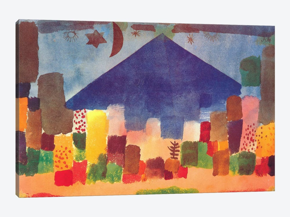 Egyptian Night (notte Egiziana) by Paul Klee 1-piece Canvas Print