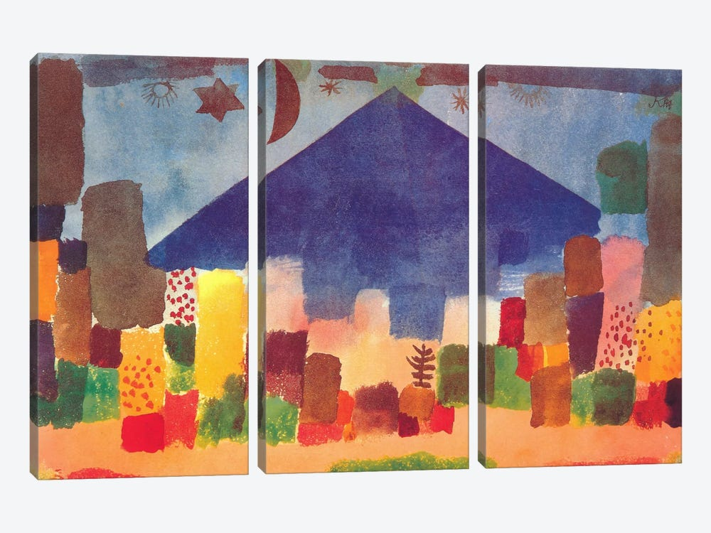 Egyptian Night (notte Egiziana) by Paul Klee 3-piece Canvas Print