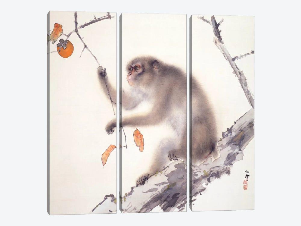 Monkey by Hashimoto Kansetsu 3-piece Canvas Artwork