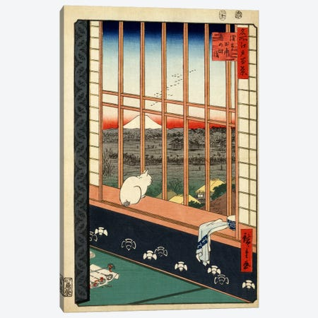 Askusa tanbo Torinomachi mode (Asakusa Ricefields and Torinomachi Festival) Canvas Print #13647} by Utagawa Hiroshige Art Print